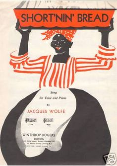 JACQUES WOLFE 1920s Vintage sheet music- SHORTNIN' BREAD