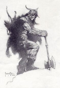 "marvel1980s: ""1983 - Conan by Frank Frazetta """