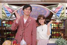 「起笑転結」MCの博多大吉と田中みな実(左から)。(c)日本テレビ
