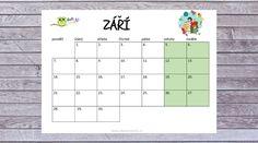 Školní kalendář k tisku Bullet Journal, Words, Horse