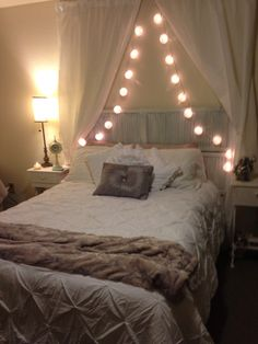 Shabby chic room with shutter headboard