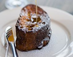 {pain perdu} ...an even better version of french toast and still so easy -- let the bread soak in heavy cream goodness overnight and simply bake in the morning.