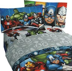 3pc Marvel Avengers Twin Bed Sheet Set Superhero Halo Bedding Accessories