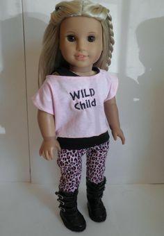 Wild Child collection 3 piece set pants tank by MiniMeDollyDivas, $25.00