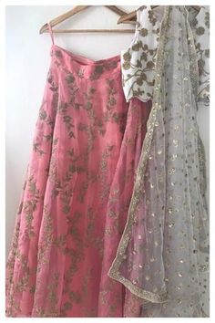 The Coral Shoreline Lehenga Set