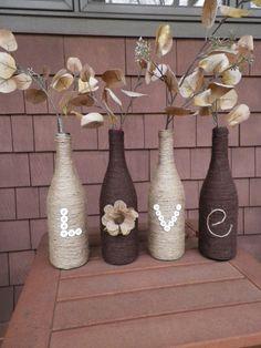 Wine Bottle Decor by Driftwood143 on Etsy https://www.etsy.com/listing/204005492/wine-bottle-decor