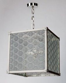 Marlowe 16 Lantern with Antique Rondelle Glass