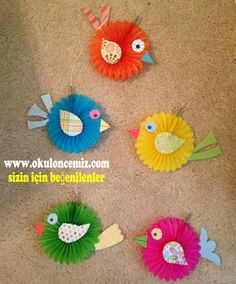 45 Trendy Ideas For Paper Tree Craft Classroom Kids Crafts, Easter Crafts, Diy And Crafts, Arts And Crafts, Paper Birds, Paper Flowers, Paper Tree, Art N Craft, Animal Crafts