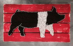 Ms Hampshire Hampshire Show Pig Products Art Nail - What Others Are Saying Pig String Art By Miknittncraft On Etsy Different Levels Of String Art Depending On The Length Of Nail You Use A Fundamental String Art Pattern The Geometric Design Has A Goo Pig Crafts, Diy And Crafts, Arts And Crafts, Adult Crafts, Fair Projects, Craft Projects, Arte Linear, Pig Showing, Nail String Art