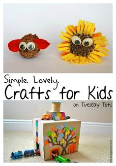 Learn with Play at home: Easy Crafts for Kids