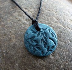 Stamped Polymer Pendant