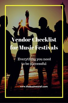 The ULTIMATE vendor checklist, covering all your needs to have a successful and profitable time at your next music festival. Click to read more or pin and save for later.  (scheduled via http://www.tailwindapp.com?utm_source=pinterest&utm_medium=twpin&utm_content=post89732691&utm_campaign=scheduler_attribution)