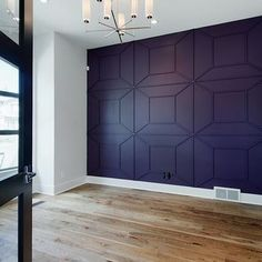 Trim out on accent wall or the ceiling? Awesome idea