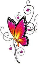 Purple Butterfly Heart - An idea for a friend's tattoo