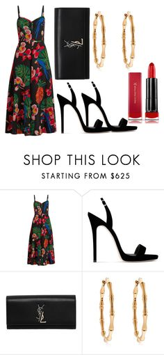 """""""formal #11"""" by mdoraki ❤ liked on Polyvore featuring Valentino, Giuseppe Zanotti, Yves Saint Laurent, Gucci and Max Factor"""