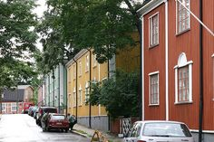 Puu-Vallila Nordic Classicism, Wooden Buildings, Wooden Houses, Visit Helsinki, Classical Architecture, Beautiful Buildings, Capital City, Finland, Street View
