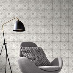 Rasch Ceramic Tile Wallpaper - White 932508  This stylish Ceramic Tiles themed wallpaper features a realistic design based on intricately patterned ceramic tiles in white, with shading in soft natural tones for added depth. Easy to apply, this high quality wallpaper would look fantastic when used to decorate a whole room or to create a feature wall. A beautiful design based on ceramic tiles Ideal for feature walls and entire rooms 10.05m (32.9 ft) long x 53cm (1.73ft) wide 53cm pattern…