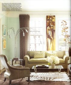 "Philip Gorrivan helped a Manhattan photographer and filmmaker makeover his Upper East Side apartment. As published in ""ELLE Decor"" in May, 2010. East 64th Street Apartment, Philip Gorrivan Design."