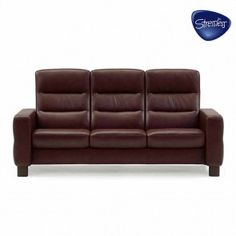Shop for the Stressless by Ekornes Stressless Wave High-Back Reclining Sofa at Interiors Home Furnishings - Your Mankato Furniture & Mattress Store