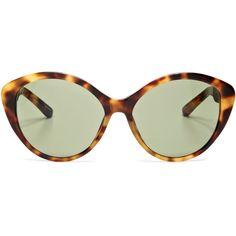 Linda Farrow For the Row D-Frame Tortoiseshell Sunglasses (€425) ❤ liked on Polyvore