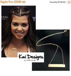 BLACK FRIDAY SALE  Gold Bar Necklace by camilaestrella on Etsy