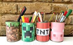 DIY Minecraft Desk Tiddy with free printable