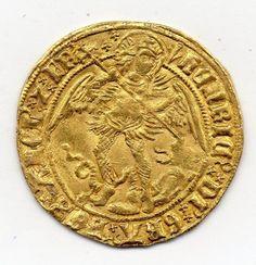 HENRY VII (1485-1509) ANGEL, MINT MARK PHEON (1505-9)