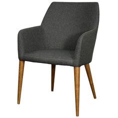 448239-NS-W/Regan Fabric Chair Walnut Legs, Night Shade