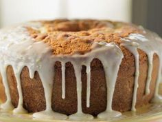 "Kyle's Lemon Pound Cake With Reba's (McEntire) Royal Glaze (Country Music Hall of Fame) - Trisha Yearwood, ""Trisha's Southern Kitchen"" on the Food Network."