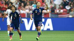 Yuki Ogimi of Japan reacts after scoring