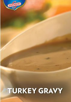 You'll need just two ingredients to make this Turkey Gravy, and it comes out great time after time. We can't imagine our Thanksgiving dinners without it. Now it's time for you and your family to give this recipe a try. It goes well on top of turkey, mashed potatoes and stuffing. Don't forget to include it in your Thanksgiving leftovers too! Thanksgiving Dinners, Thanksgiving Leftovers, Turkey Gravy, Marinade Sauce, Chile, Turkey Dishes, Don't Forget, Sauce Recipes, Chicken Recipes