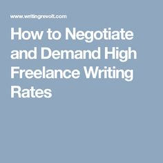 Wanna learn how to demand high freelance writing rates? This tried-and-true negotiation tactic will help you make it happen! Business Writing Skills, Make Money Online, How To Make Money, How To Get Rich, Copywriting, To Focus, Online Business, This Or That Questions, Learning