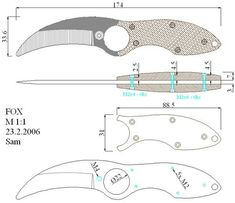 Cool Knives, Knives And Swords, Knife Template, Blacksmithing Knives, Knife Making Tools, Hand Forged Knife, Knife Patterns, Knife Stand, Tactical Pocket Knife