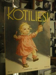 Kotiliesi Magazine cover by Martta Wendelin, Finland Finnish Women, Magazine Covers, Finland, Martini, Elsa, Fairy Tales, Vintage, Artwork, Books