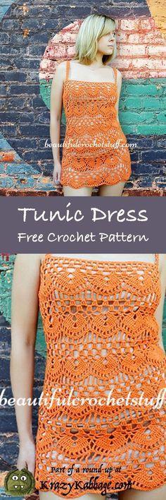Summer Dress Free Crochet Patterns; Krazykabbage #summer #fashion #crochet #freepattern #women