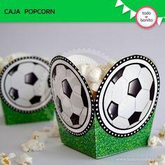 "Fútbol: Caja popcorn ""pelota"""