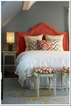 Corral head board. Just the right amount of colour