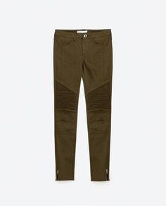 Image 8 of MID-RISE BIKER JEANS from Zara