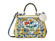 Dolce & Gabbana Maiolica Ceramic Print Sicily Bag - Zappos Luxury
