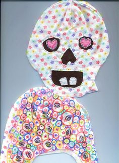 Eileen McGarvey - skull scraps  (work in progress on baby skeleton doll and experiments with modding baby fabric)