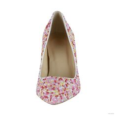 vintage bridesmaid dresses 3.5 inch Multicolor Pearls Leather shoes $60.98
