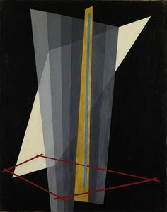 László Moholy-Nagy, 'K XVII' 1923 Oil on canvas, found at artblart  (via streetetiquette)