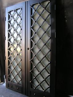 What do you usually have in mind when you think of wrought iron doors? Most people will probably associate them with fences or garden doors. Others ma. Grill Gate Design, Balcony Grill Design, Steel Gate Design, Iron Gate Design, Window Grill Design, Main Door Design, Front Door Design, Wrought Iron Doors, Windows And Doors