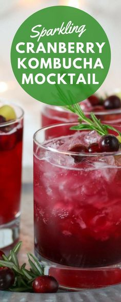 This Sparkling Cranberry Kombucha Mocktail is totally delicious and totally healthy. Youll love the combination of the herbs and cranberry juice and its perfect for the holiday season! Its paleo, dairy-free, vegan-friendly and is a tasty mocktail durin