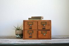 Great gift for the vintage book lover! old library card cabinet. Beautiful.