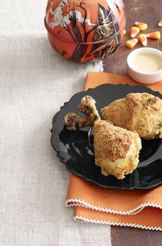 Oven-Baked Drumsticks with Lemon Dipping Sauce - WomansDay.com