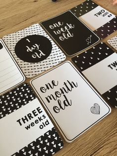 Baby Milestone Cards PRINTED Full Set of 27 by VandaBabyCards