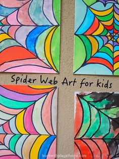 Spider Web Art for Kids.  This would be a great project for a special needs art class.  Practice painting within the lines to make their own unique web.  Get all the directions at:  http://www.learnwithplayathome.com/2015/02/spider-web-art-for-kids.html