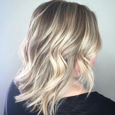 Blonde Highlights - Lob Haircut - Tangerine Salon - Aveda