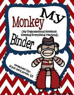 The Monkey Binder is a 3-ring notebook that students use everyday to develop organizational skills and responsibility. This 3-ring binder houses EVERYTHING your child, you (the caregivers) and I need to keep up-to-date with what is going on in our classroom and at school. Everything will be right here in our Monkey Binder!